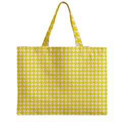 Friendly Houndstooth Pattern,yellow Medium Tote Bag