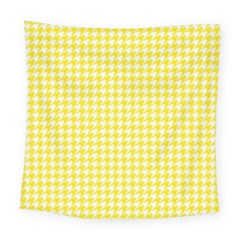 Friendly Houndstooth Pattern,yellow Square Tapestry (large)