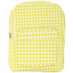 Friendly Houndstooth Pattern,yellow Full Print Backpack