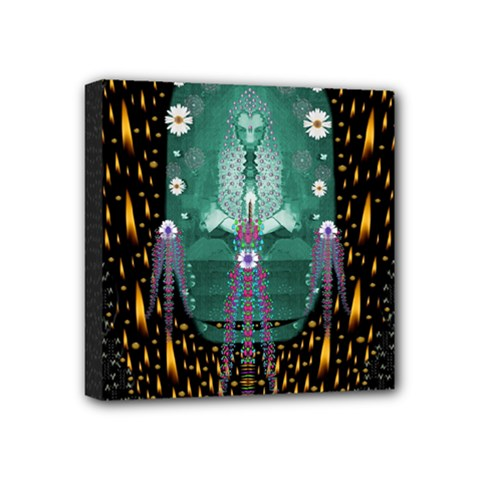 Temple Of Yoga In Light Peace And Human Namaste Style Mini Canvas 4  X 4