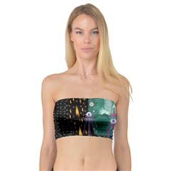 Temple Of Yoga In Light Peace And Human Namaste Style Bandeau Top