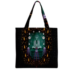 Temple Of Yoga In Light Peace And Human Namaste Style Grocery Tote Bag