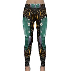 Temple Of Yoga In Light Peace And Human Namaste Style Classic Yoga Leggings
