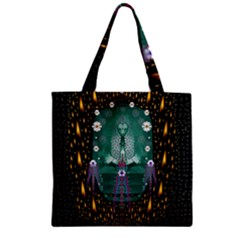 Temple Of Yoga In Light Peace And Human Namaste Style Zipper Grocery Tote Bag