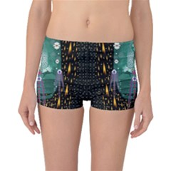 Temple Of Yoga In Light Peace And Human Namaste Style Boyleg Bikini Bottoms