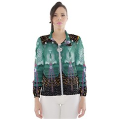 Temple Of Yoga In Light Peace And Human Namaste Style Wind Breaker (women)