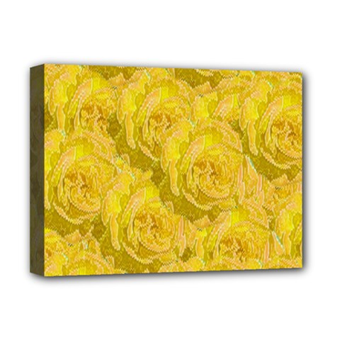 Summer Yellow Roses Dancing In The Season Deluxe Canvas 16  X 12