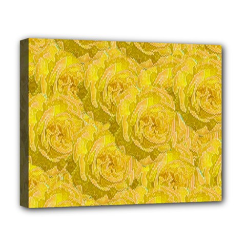 Summer Yellow Roses Dancing In The Season Deluxe Canvas 20  X 16