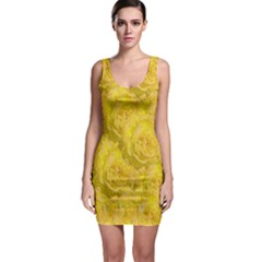Summer Yellow Roses Dancing In The Season Bodycon Dress