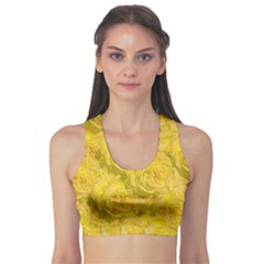 Summer Yellow Roses Dancing In The Season Sports Bra