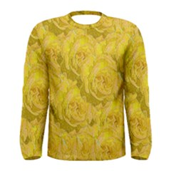 Summer Yellow Roses Dancing In The Season Men s Long Sleeve Tee