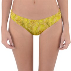 Summer Yellow Roses Dancing In The Season Reversible Hipster Bikini Bottoms