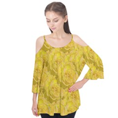 Summer Yellow Roses Dancing In The Season Flutter Tees