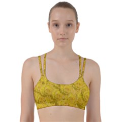 Summer Yellow Roses Dancing In The Season Line Them Up Sports Bra
