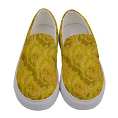 Summer Yellow Roses Dancing In The Season Women s Canvas Slip Ons