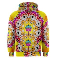 Fantasy Flower In Tones Men s Pullover Hoodie