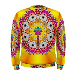 Fantasy Flower In Tones Men s Sweatshirt