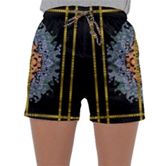 Blue Bloom Golden And Metal Sleepwear Shorts