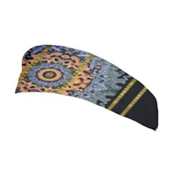 Blue Bloom Golden And Metal Stretchable Headband