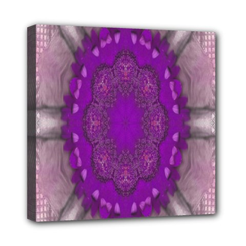 Fantasy Flowers In Harmony  In Lilac Mini Canvas 8  X 8