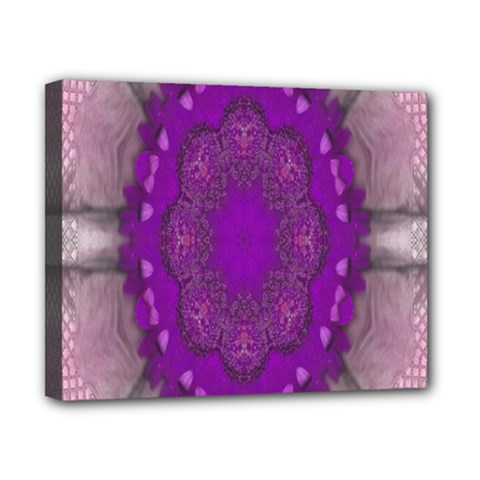 Fantasy Flowers In Harmony  In Lilac Canvas 10  X 8