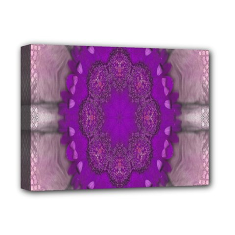 Fantasy Flowers In Harmony  In Lilac Deluxe Canvas 16  X 12