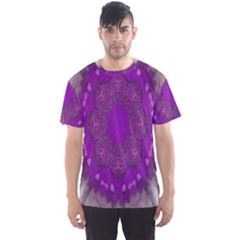 Fantasy Flowers In Harmony  In Lilac Men s Sports Mesh Tee
