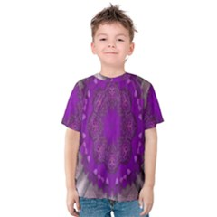 Fantasy Flowers In Harmony  In Lilac Kids  Cotton Tee