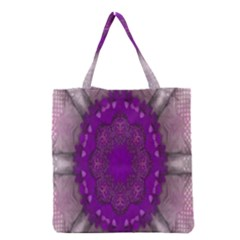 Fantasy Flowers In Harmony  In Lilac Grocery Tote Bag