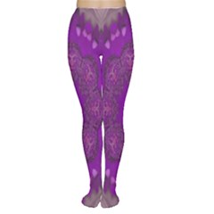 Fantasy Flowers In Harmony  In Lilac Women s Tights