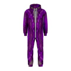Fantasy Flowers In Harmony  In Lilac Hooded Jumpsuit (kids)