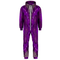 Fantasy Flowers In Harmony  In Lilac Hooded Jumpsuit (men)