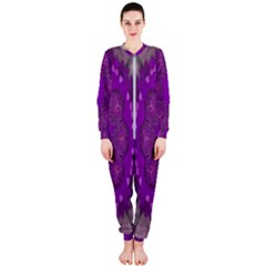 Fantasy Flowers In Harmony  In Lilac Onepiece Jumpsuit (ladies)
