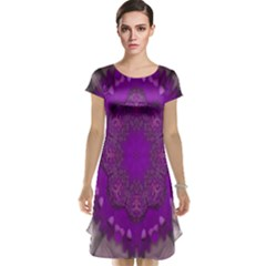 Fantasy Flowers In Harmony  In Lilac Cap Sleeve Nightdress
