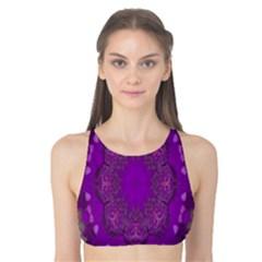 Fantasy Flowers In Harmony  In Lilac Tank Bikini Top