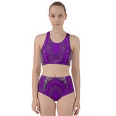 Fantasy Flowers In Harmony  In Lilac Racer Back Bikini Set