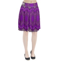 Fantasy Flowers In Harmony  In Lilac Pleated Skirt