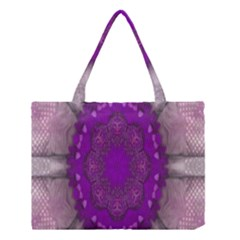 Fantasy Flowers In Harmony  In Lilac Medium Tote Bag
