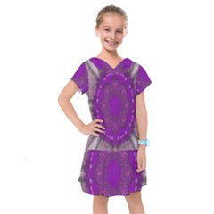 Fantasy Flowers In Harmony  In Lilac Kids  Drop Waist Dress