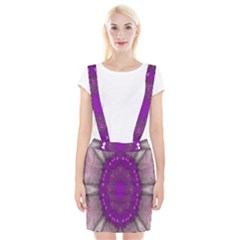 Fantasy Flowers In Harmony  In Lilac Braces Suspender Skirt
