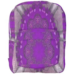 Fantasy Flowers In Harmony  In Lilac Full Print Backpack