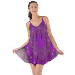 Fantasy Flowers In Harmony  In Lilac Love The Sun Cover Up