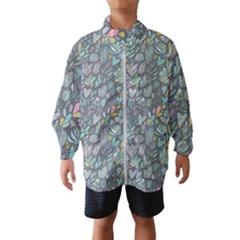 Cactus Pattern Green  Wind Breaker (kids)