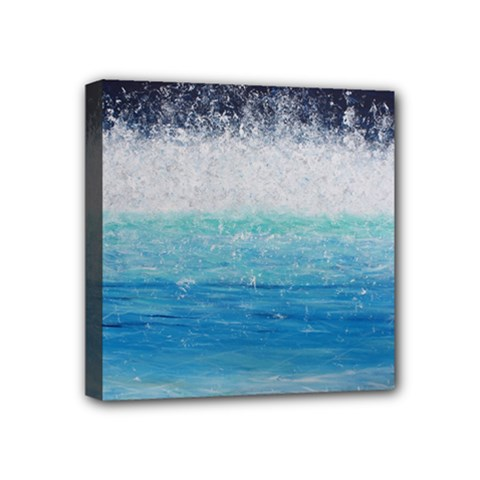 Renewing Life  Living Water    Mini Canvas 4  X 4  (framed)