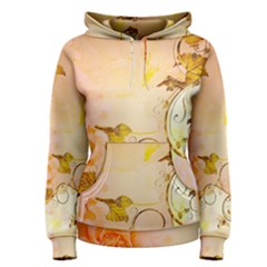Wonderful Floral Design In Soft Colors Women s Pullover Hoodie