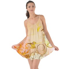 Wonderful Floral Design In Soft Colors Love The Sun Cover Up