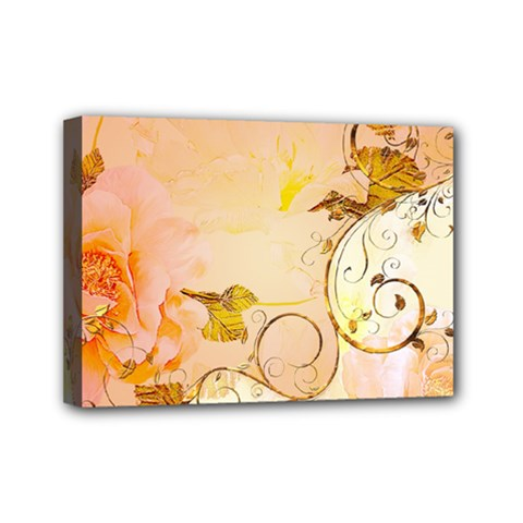 Wonderful Floral Design In Soft Colors Mini Canvas 7  X 5