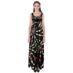 Tarantulas Empire Waist Maxi Dress
