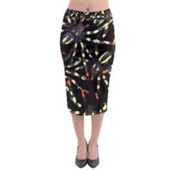 Tarantulas Midi Pencil Skirt