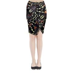 Tarantulas Midi Wrap Pencil Skirt